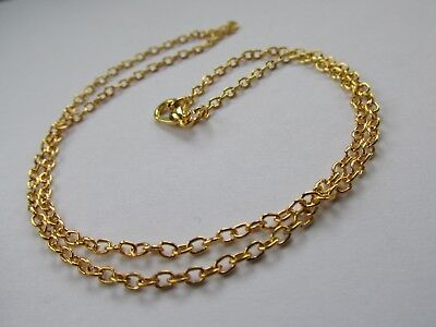 "Jewellery Craft Design - Gold Plated Trace Chain Chains Findings 18"" Packs"