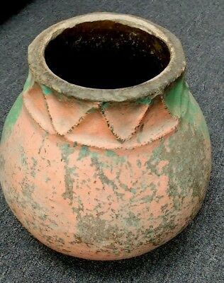 "Antiquity? Pre Columbian? Taino? Clay Water Pot Dominican  Republic 15""x6.5""x13"""