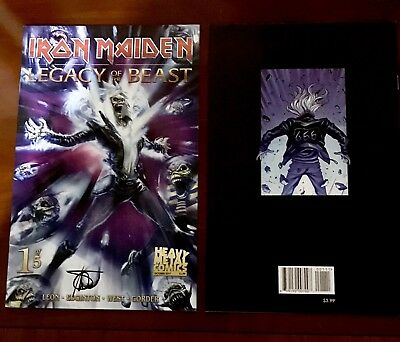 IRON MAIDEN: LEGACY OF TH BEAST # 1 Cvr A - Signed - Heavy Metal Magazine