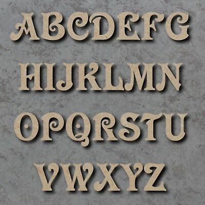 25cm MDF Craft Wooden Letters Victorian Font  A-Z &