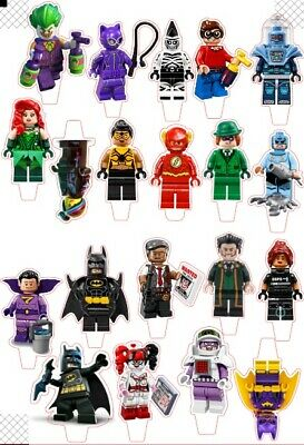 22 Lego Batman Movie  STAND UP Edible Cupcake Topper Edible Decorations