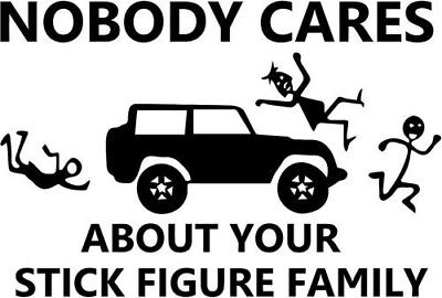 M1 Abrams Tank Nobody Cares About Your Stick Figure Family Army Marines Decal