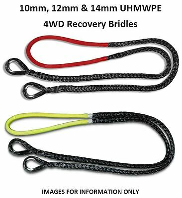 10mm 12mm 14mm UHMWPE 4WD 4x4 Recovery Bridle *Many Colours/Lengths Available*