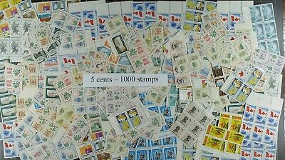 Weeda Canada Postage Lot of 1000 x 5c stamps, mostly NH, $50 Face Value, useful!