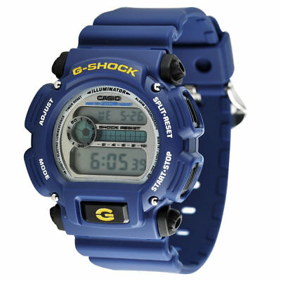 New Casio DW9052-2V G-Shock Blue Digital Dial Resin Band Men Watch DW9052-2VDR