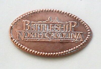 BATTLESHIP NORTH CAROLINA   elongated penny
