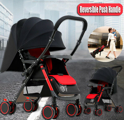 Baby Stroller Pram Compact Lightweight Travel Jogger Reverse Folding Pushchair