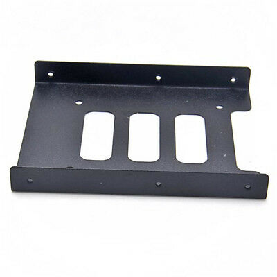 """SSD HDD Metal Mounting Hard Drive Holder Adapter 2.5"""" To 3.5"""" Bracket Dock"""