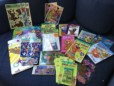 Huge Scooby Doo lot: Stickers album, books, magnets, clings doodles, cards Plate