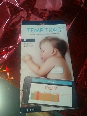 New Temp Traq 24 Hr Single Use Patch Expires 06/2017 Temperature Fever Monitor