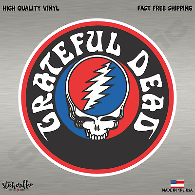 Grateful Dead Full Color Music Rock Band Decal Sticker-FREE SHIPPING