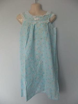 Vintage Short Floral Nightgown Nighty Cotton  Lacy Sissy Lace Nos 70S
