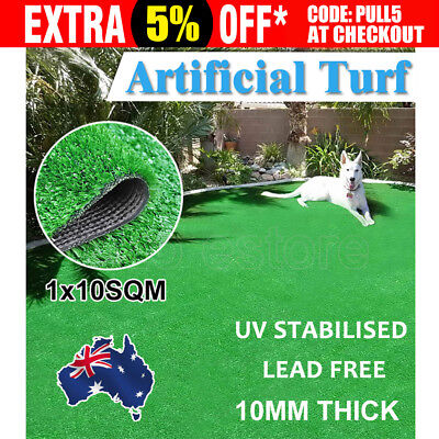 10 SQM Artificial Grass Synthetic Turf Plastic Green Plant Lawn Flooring Emerald
