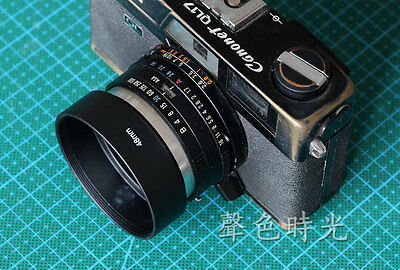 1pcs 48mm non-vented Lens Hood+Lens Cap for Canon Canonet QL17
