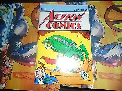 Superman Action Comics Loot Crate June 1938 #1 Reprint with COA DC
