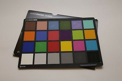 X Rite Color Checker Classic 8.5 x 11 for Video and DSLR Calibration USED