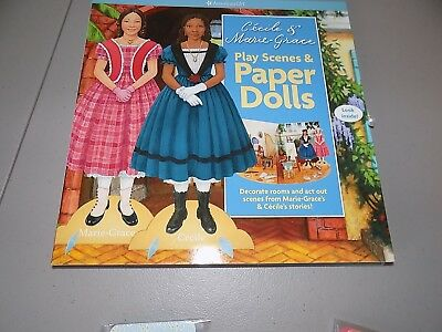 NEW AMERICAN GIRL CECILE & MARIE GRACE Play Scenes & Paper Doll Book & 2 Totes