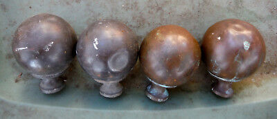 """Set of 4 Antique Finials for Antique  Bed!  3/8 Thread """"Hard to Find"""""""