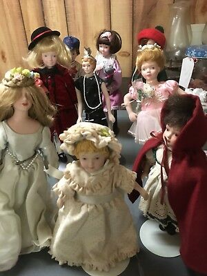 Avon Porcelain Dolls - Childhood Dreams & Others 9 Doll Lot