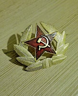 Soviet Russian Army Soldier Insignia Ussr Hat Pin Emblem Cockade Red Star Badge