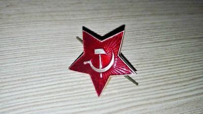 Soviet Russian Army Military Uniform Hat Red Star Pin Badge for pilotka USSR NEW