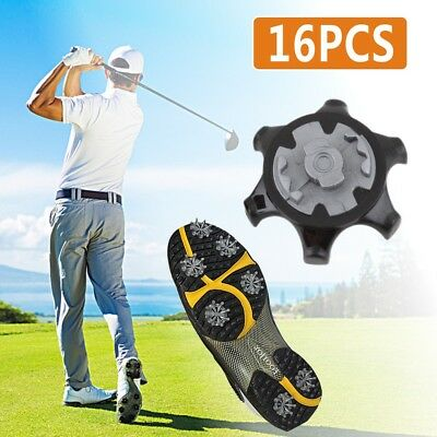 16x Replacement Soft Fast Twist Studs Golf Shoes Spikes Pins For Footjoy Black