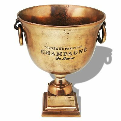 vidaXL Copper Champagne Wine Beer Cooler Ice Bucket Bar Pub Trophy Cup Decor