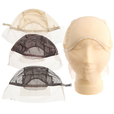 Lace Front Wig Cap for Hair Making Weave Elastic Net Mesh Straps Universal