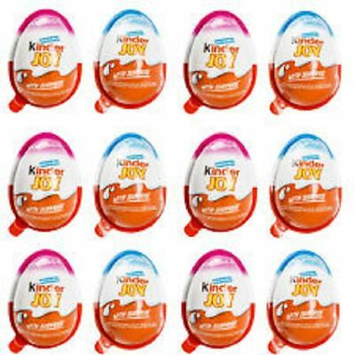 Boxes of 48 BOYS + GIRLS Kinder Joy Surprise Eggs Chocolate New Series
