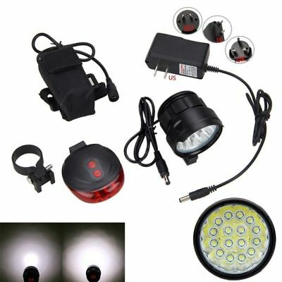 40000LM 16x XM-L T6 LED Super Bright Front Bike Light Headlamp+Battery+Charger