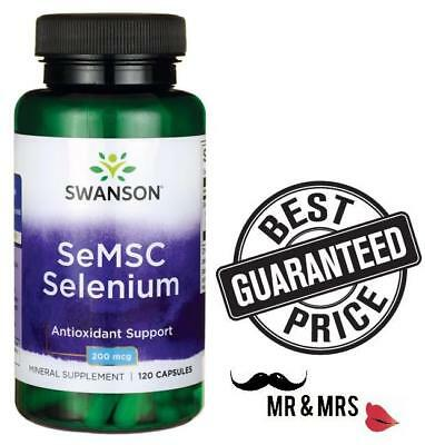 Swanson SeMSC Selenium  200mcg, 120 Capsules Short Dated JUNE 2019
