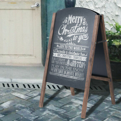 A-Board Wooden Frame Pavement Sign Chalkboard Cafe Shop Pub Board Liquid Chalk