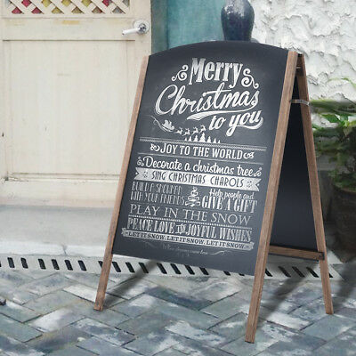 Pavement Sign A-Board Frame Free Standing Floor Chalkboard Cafe Shop Pub Board