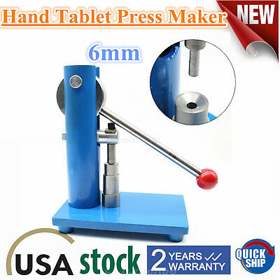 6mm Manual Tablet Press Making Machine Hand Punch Pill Pressing Maker Lab Grades