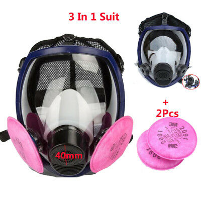 Double Use Gas mask Painting Spray For 6800 Full Face Respirator Mask 40mm