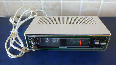 Vintage Retro Bush CR 232 WH Flip Digital Alarm Clock Radio - Working SUPER RARE