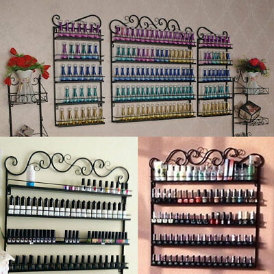 3 in 1 5 Tier Nail Fashion Style Polish Rack Holds 200+ Bottles Wall Display UK