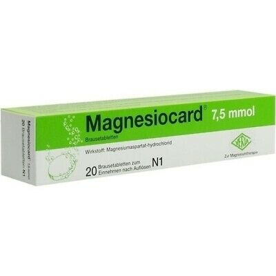 MAGNESIOCARD 7,5 mmol Brausetabletten 20 St 00110289