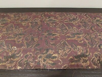 Japanese Silk Monk's Kesa Textile From 18/19Th Century