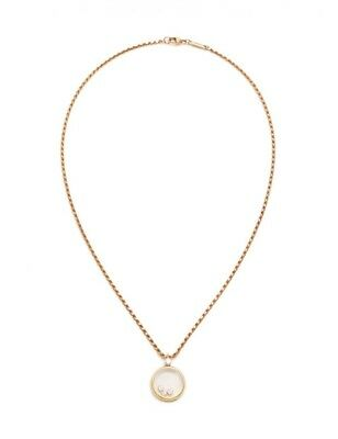 Chopard Happy Diamond Necklace Pendant 18K YG Yellow Gold