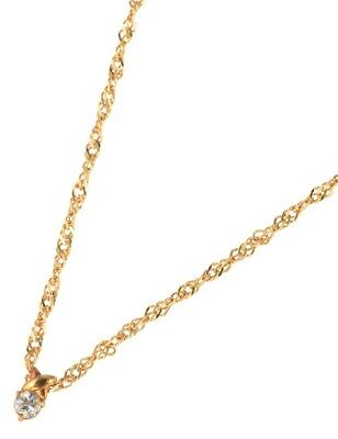 Diamond Necklace Yellow Gold 18K Yellow Gold Women''s Accessories