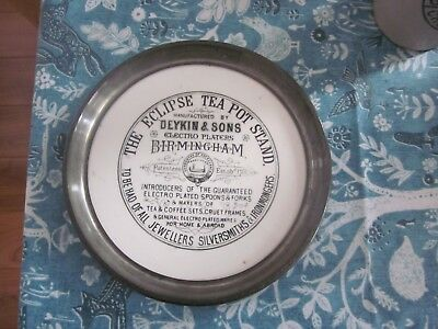 The Eclipse Tea Pot Stand Birmingham Advertising Stoneware Balmoral Castle