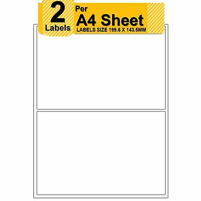 2 Self Adhesive Printer Address Sticky Labels Per 100/500/1000 A4 Sheets L7168