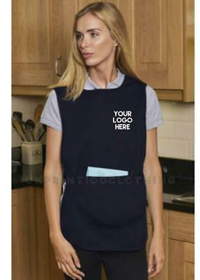 PERSONALISED CUSTOM PRINTED TABARD / APRON / OVERALL Cleaning Workwear