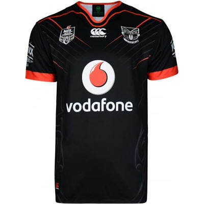 New & Authentic New Zealand Warrior Replica Rugby League Home Jersey 2017