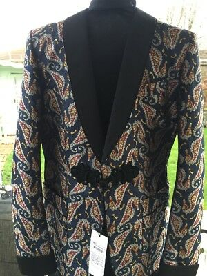 Gucci Man Seahorse Jacquard  Formal Evening Jacket 48