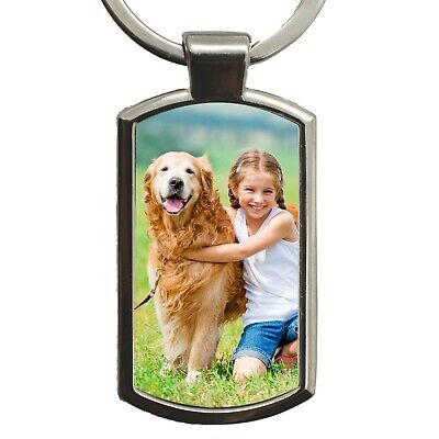 Personalised Photo Keyring Custom Birthday Wedding Image Logo Gift FREE Gift Box