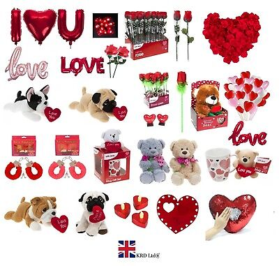 VALENTINES DAY ROMANTIC GIFTS His & Her Love Heart Cute Bears Valentine Gift UK