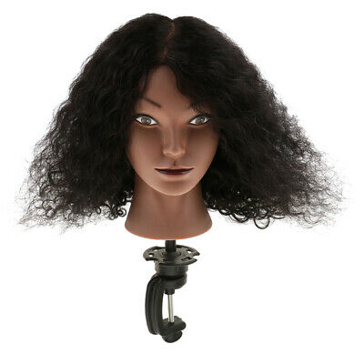 Cosmetology Human Hair Practice Training Mannequin Manikin Head with Clamp