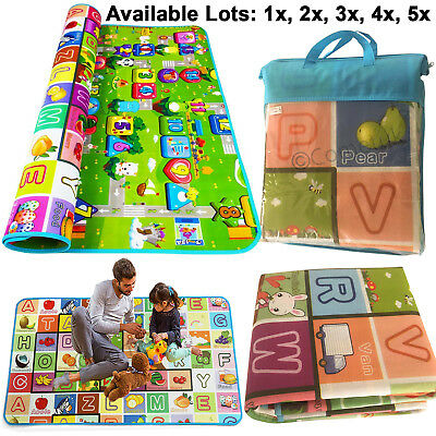 200x180cm 2 Side baby mat Kids Crawling Educational Play Soft Foam baby Carpet